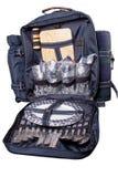 backpack picnic γευμάτων σύνολο στοκ φωτογραφίες με δικαίωμα ελεύθερης χρήσης
