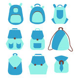 Backpack rucksack set Royalty Free Stock Photography