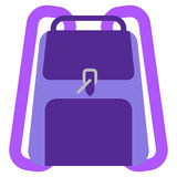 Backpack schoolbag icon, vector illustration Royalty Free Stock Image