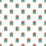 Backpack schoolbag pattern seamless Stock Image