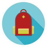 Backpack of the schoolboy Royalty Free Stock Photography