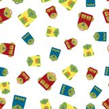 Backpack seamless pattern,. Vector illustration Royalty Free Stock Image