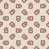 Backpack seamless pattern Royalty Free Stock Photo