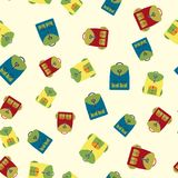 Backpack seamless pattern,. Vector illustration Stock Images