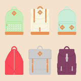 Backpack set. Royalty Free Stock Images
