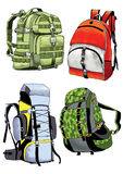 Backpack strap freight handle belt Stock Photo