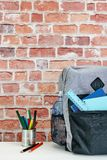 Backpack. A studio photo of a backpack Royalty Free Stock Photography