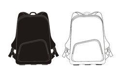 Free Backpack Template  Stock Photography - 26748522