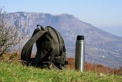 backpack thermos Στοκ φωτογραφίες με δικαίωμα ελεύθερης χρήσης