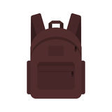 Backpack traveler marching student briefcase. Stock Photos