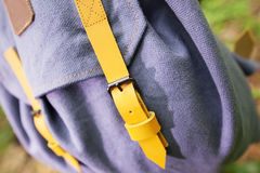 Backpack on the tree Stock Photos