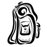 Backpack trekking ou viajando para um turista ilustração stock