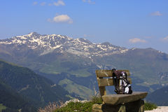 Backpack in the Tyroler mountains, Austria Royalty Free Stock Photo