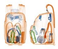 Backpack under xray stock illustration