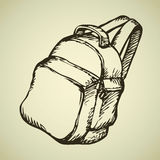 Backpack. Vector drawing Stock Images