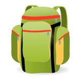Backpack, vector illustration Stock Images