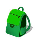 Backpack. Vector illustration of a green backpack Stock Image