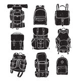 Backpack Vintage Labels Stock Image