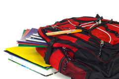 Backpack With Supplies Stock Images