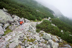 backpacker κορίτσι Στοκ εικόνα με δικαίωμα ελεύθερης χρήσης