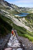 backpacker κορίτσι Στοκ Εικόνες