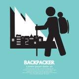 Backpacker ilustración del vector