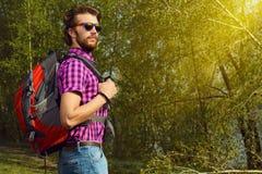 backpacker royalty-vrije stock fotografie