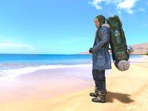 backpacker immagine stock