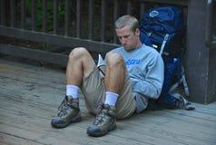 backpacker fotografia stock libera da diritti