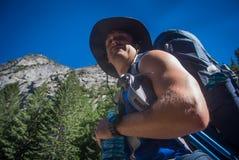 backpacker fotografia stock
