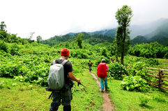 Backpacker adventure Royalty Free Stock Photography