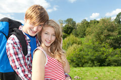 Backpacker couple Royalty Free Stock Photography