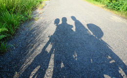 Backpacker couple travel by motorbike stock photography