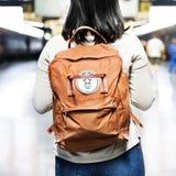 Backpacker die Toevallige Bestemming onderzoeken ontspant Concept stock afbeeldingen