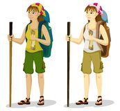 Backpacker Girl Royalty Free Stock Photography