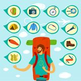 Backpacker illustration Royalty Free Stock Photography