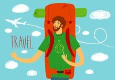 Backpacker illustration Royalty Free Stock Image