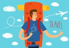 Backpacker illustration Royalty Free Stock Photo