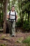 Backpacker masculino Fotos de Stock Royalty Free