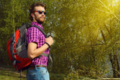 Backpacker Royalty Free Stock Photography