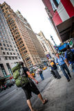 Backpacker in New York City Stock Photography