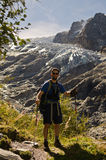 Backpacker in the outdoors stock photos