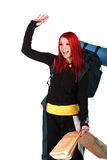Backpacker ready to go Royalty Free Stock Image