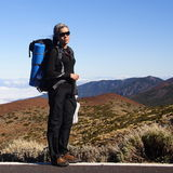 Backpacker woman Stock Images