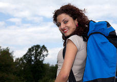 Backpacker woman Stock Image