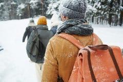 Backpackers на отключении Стоковые Изображения RF
