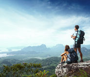 Backpackers Royalty Free Stock Images