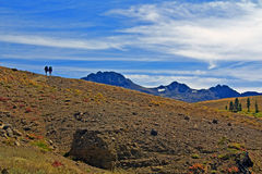 Backpackers on Carson Pass Royalty Free Stock Image