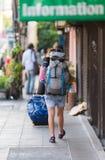 Backpackers en Bangkok Fotografía de archivo libre de regalías