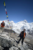 Backpackers in the Himalaya Royalty Free Stock Photography
